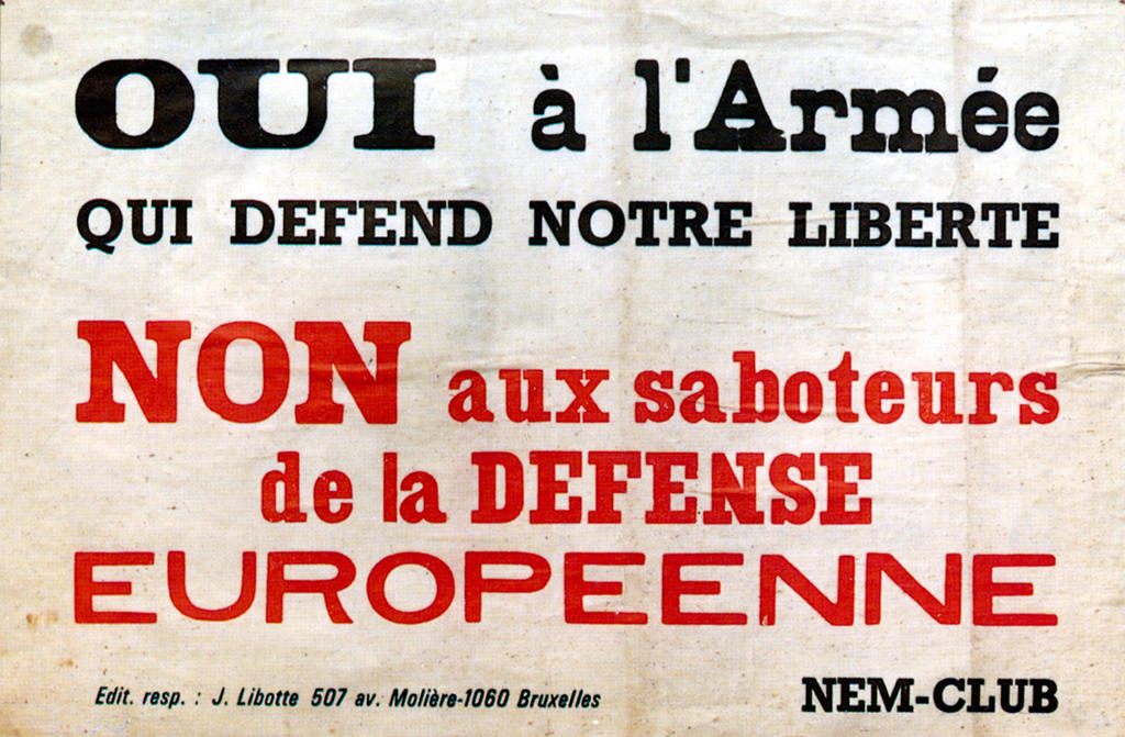 Poster in support of the European Defence Community (EDC)