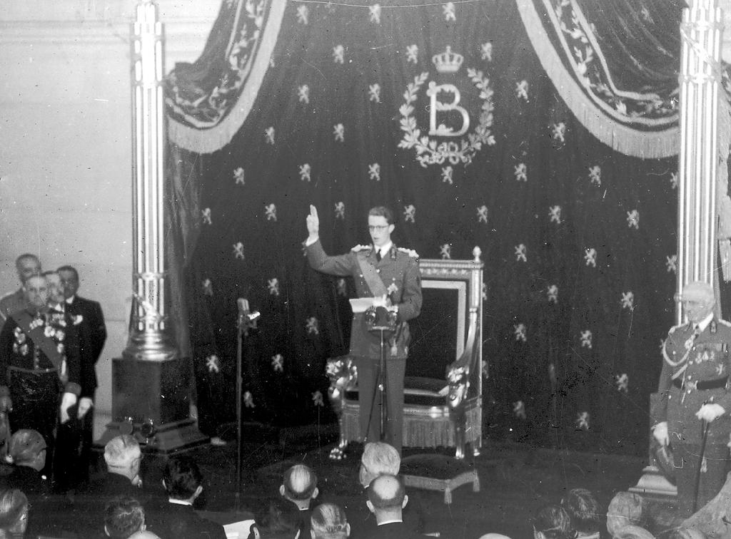 Baudouin I takes the oath (17 July 1951)