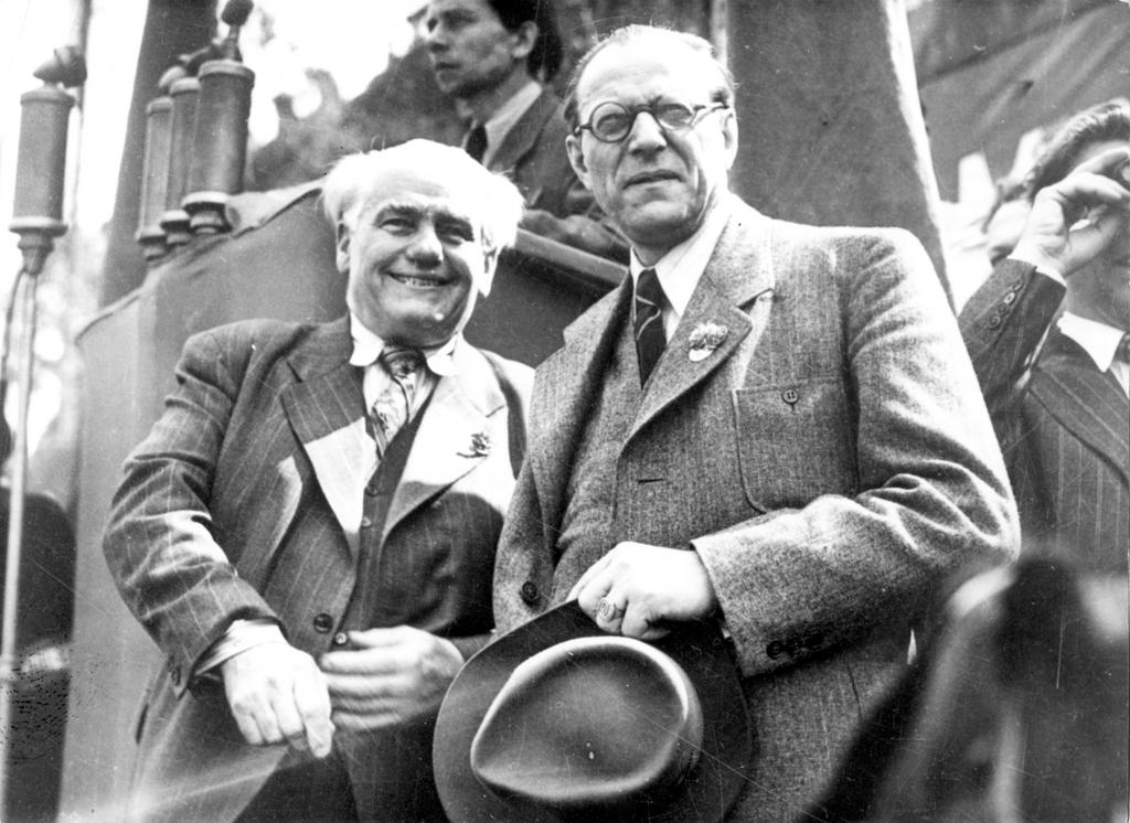 Wilhelm Pieck and Otto Grotewohl