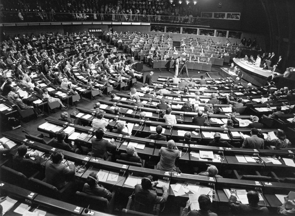 First sitting of the European Parliament elected by direct universal suffrage (Strasbourg, 17–20 July 1979)