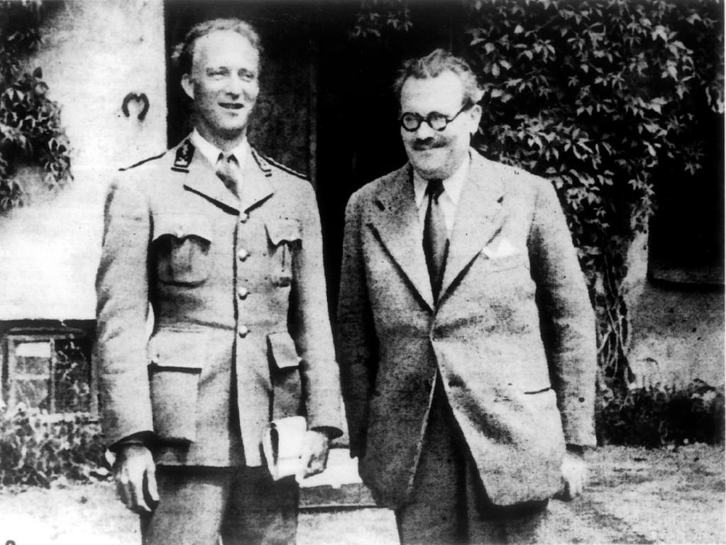 King Leopold III and Achille Van Acker (12 May 1944)