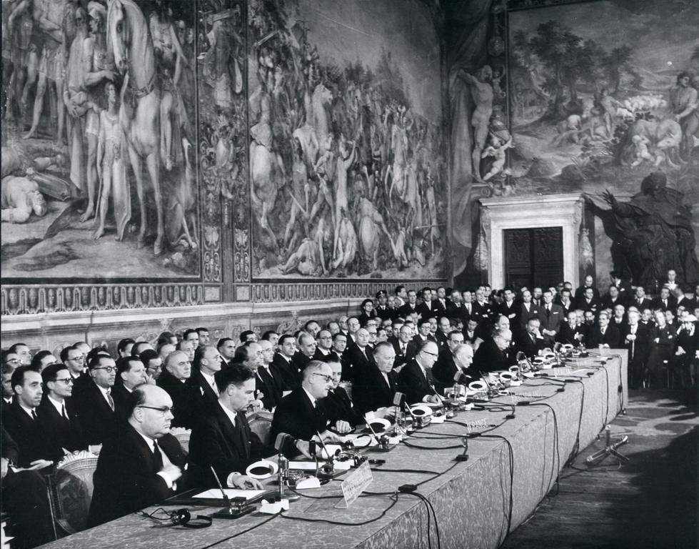 Signing of the EEC and EAEC Treaties (Rome, 25 March 1957)