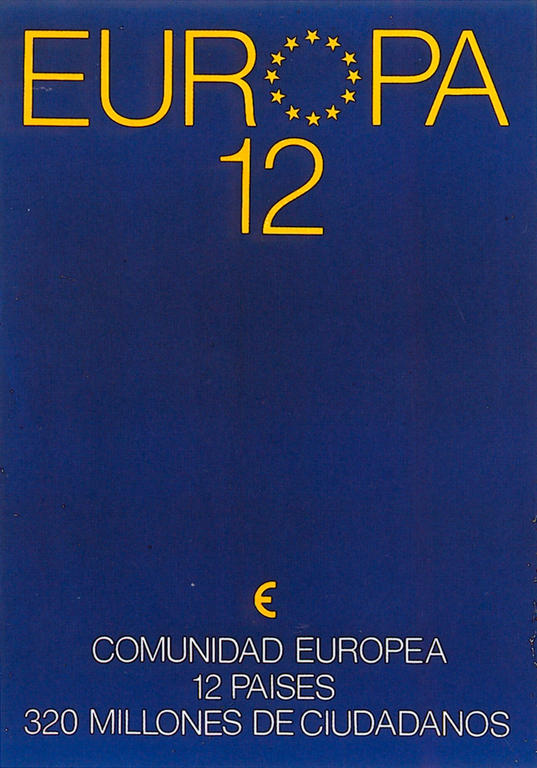 Spanish poster in favour of Europe (1986)