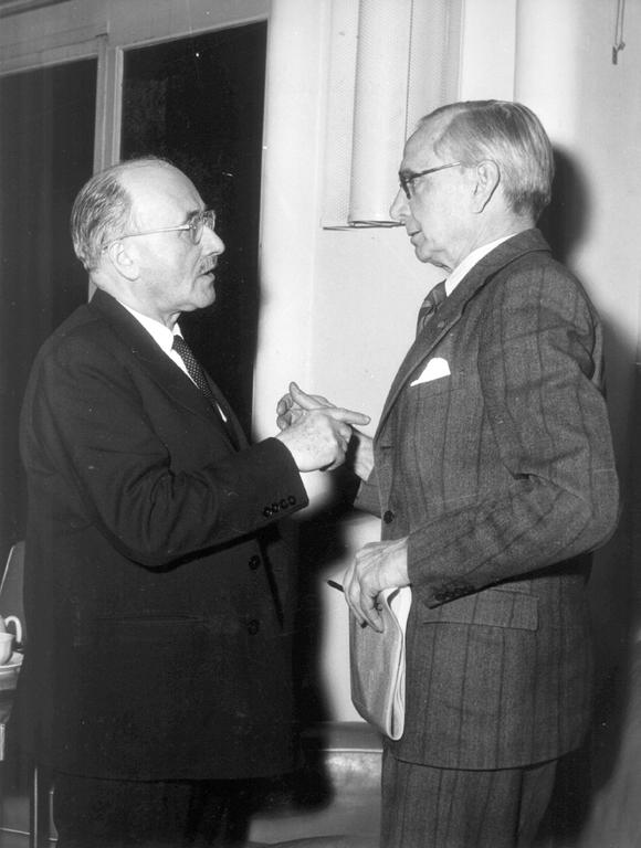 Jean Monnet and Lord Layton