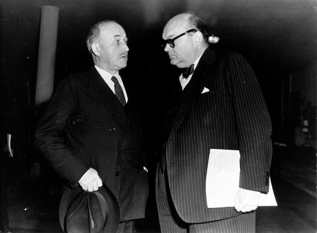 Paul-Henri Spaak et Jean Monnet