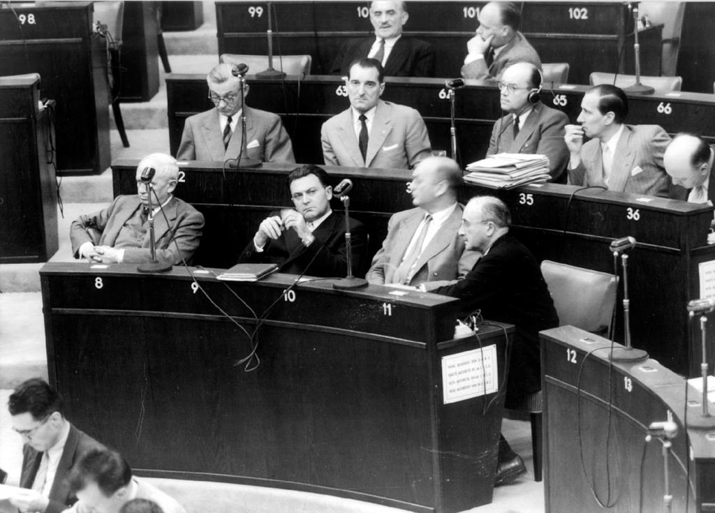Delegation from the ECSC High Authority to the Council of Europe (Strasbourg, June 1953)