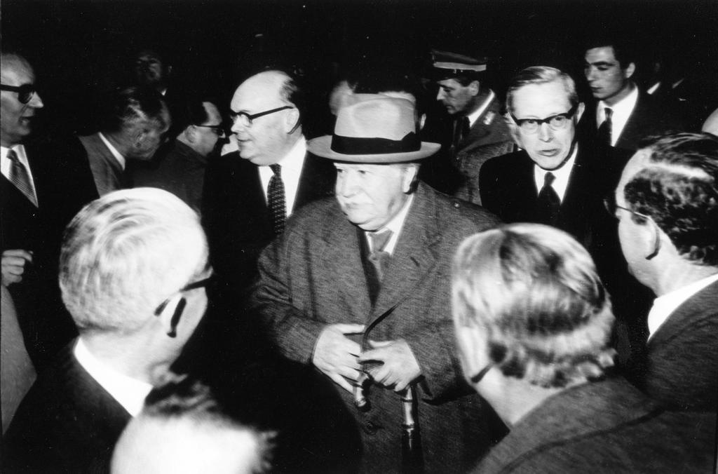 Arrival of Joseph Bech and Paul-Henri Spaak at the Capitol (Rome, 25 March 1957)