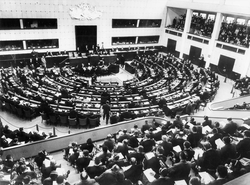 The first meeting of the European Parliamentary Assembly (19 March 1958)
