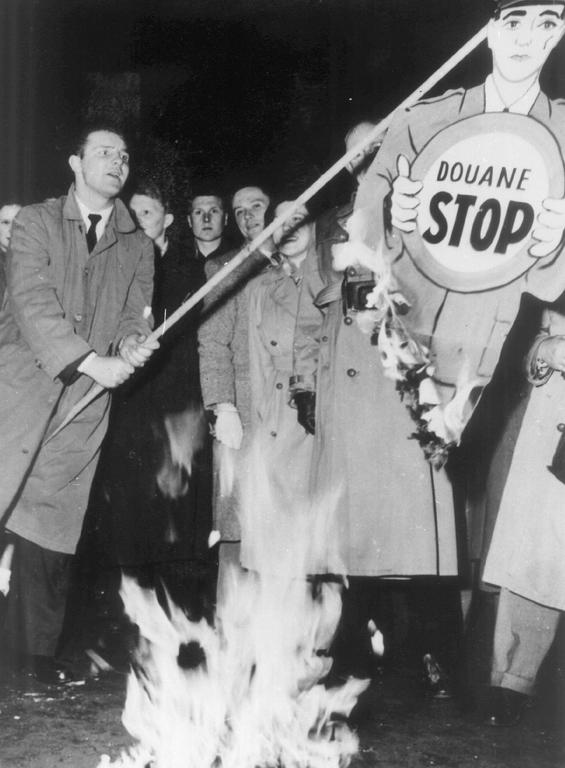 Demonstration in favour of the Customs Union (Liège, May 1953)