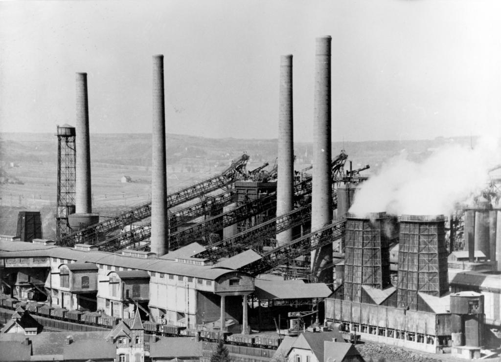 ARBED steel works in Esch/Terres Rouges (Luxembourg)