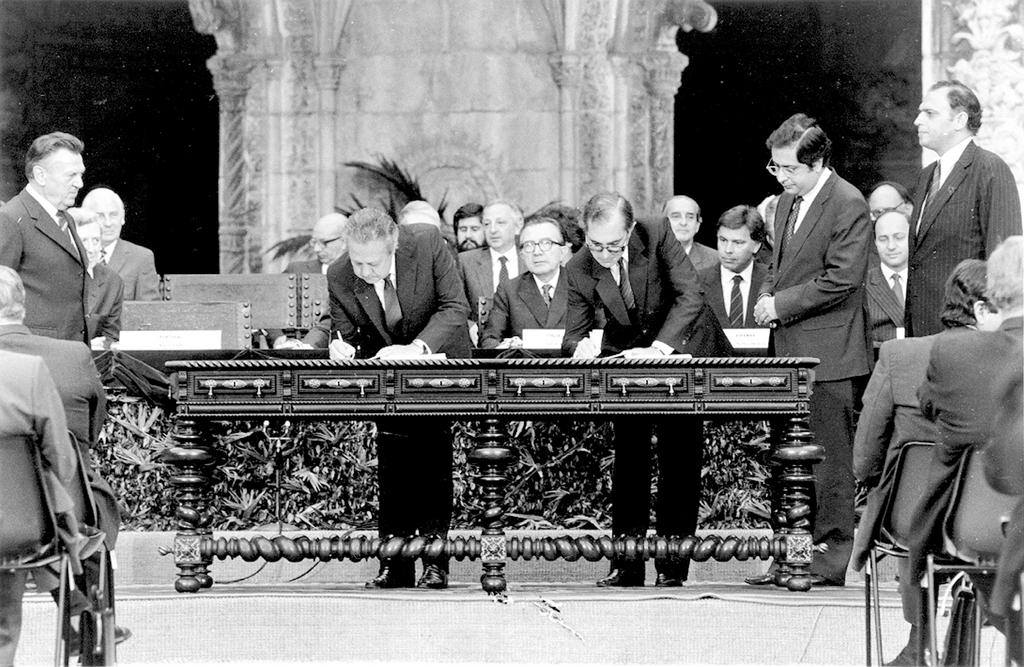 The accession of Portugal to the European Communities (Lisbon, 12 June 1985)