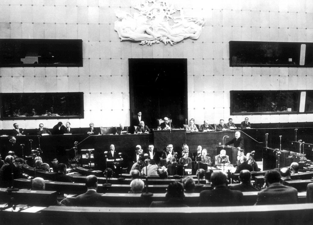 First meeting of the ECSC Common Assembly (Strasbourg, 10 September 1952)