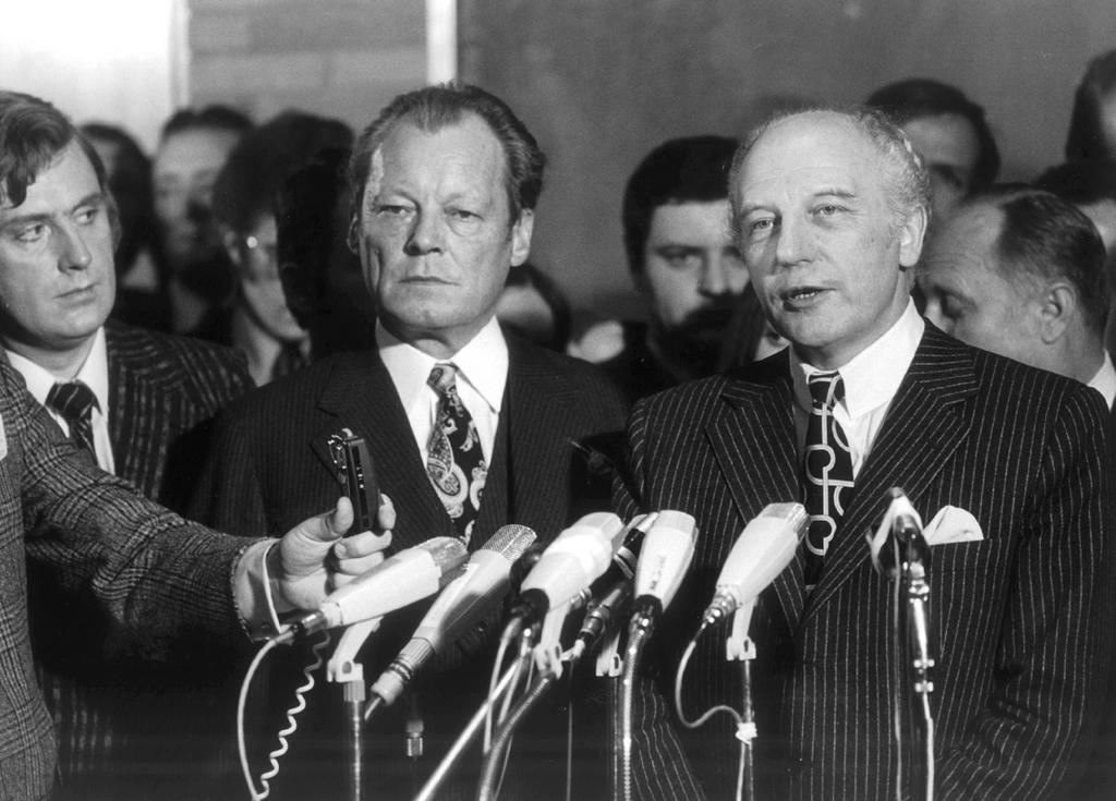 Walter Scheel und Willy Brandt (19. November 1972)
