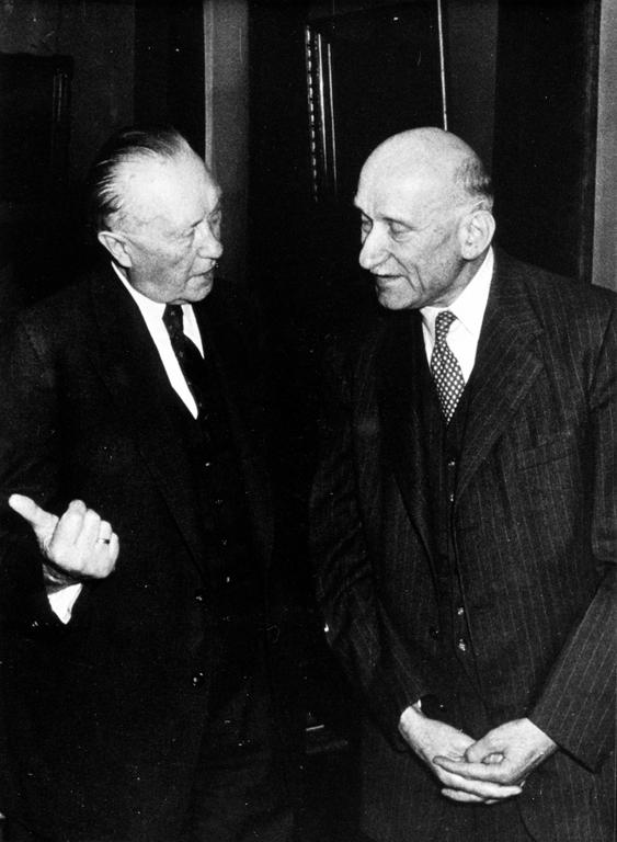 Konrad Adenauer and Robert Schuman