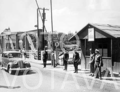 Russian checkpoint at the Enns Bridge (1945)