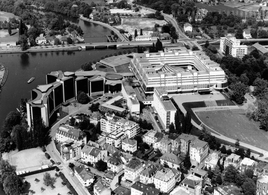 Aerial view of the Palais de l'Europe (Strasbourg)