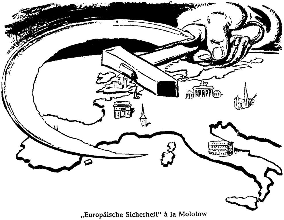 Cartoon from <i>Wiener Kurier</i> on the USSR's international policy (13 February 1955)