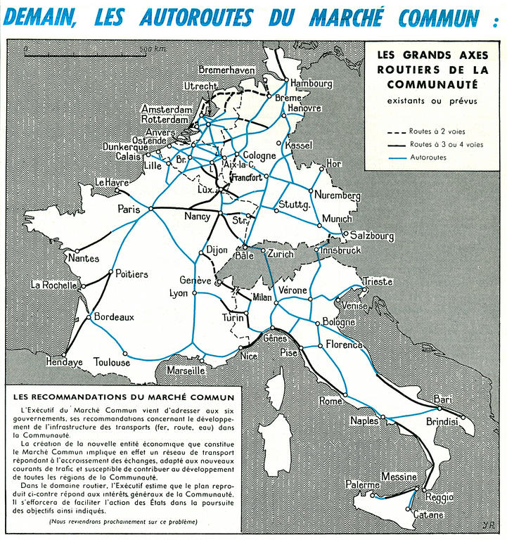 The EEC motorway network (1960)