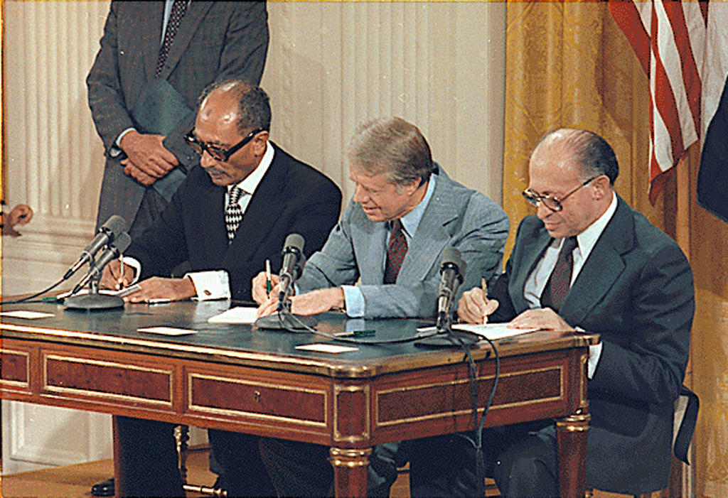 Signing ceremony of the Camp David Accords