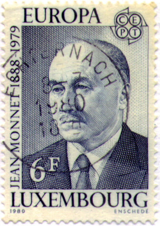 Luxembourg 6 franc stamp: Jean Monnet