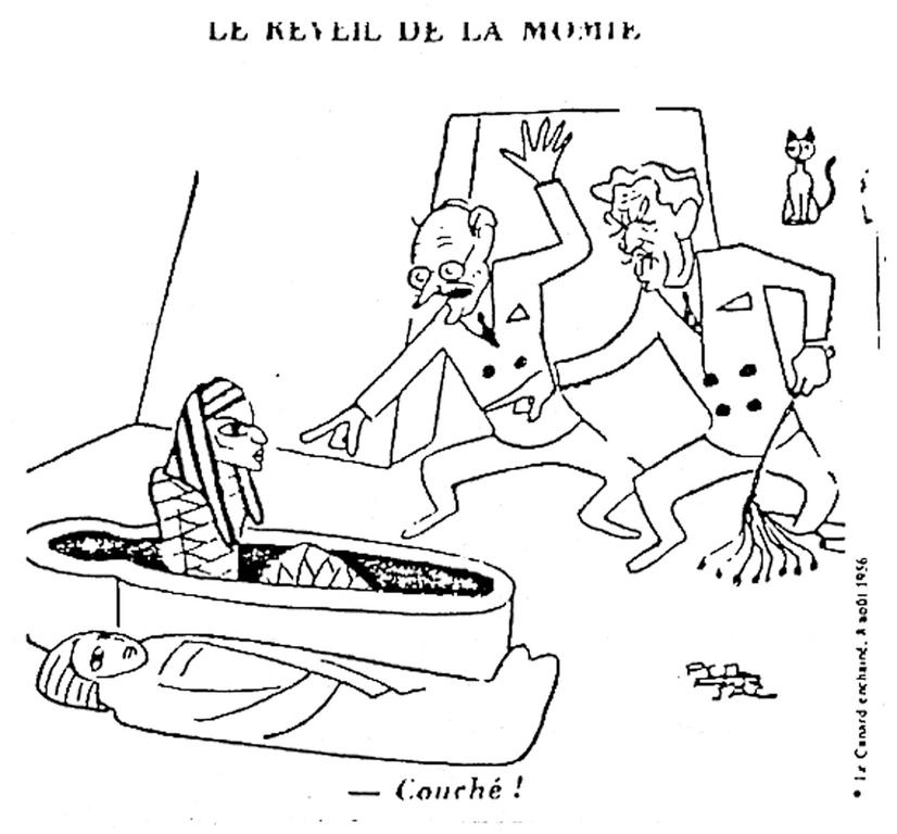 Cartoon by Ferjac on the awakening of Egyptian nationalism (8 August 1956)