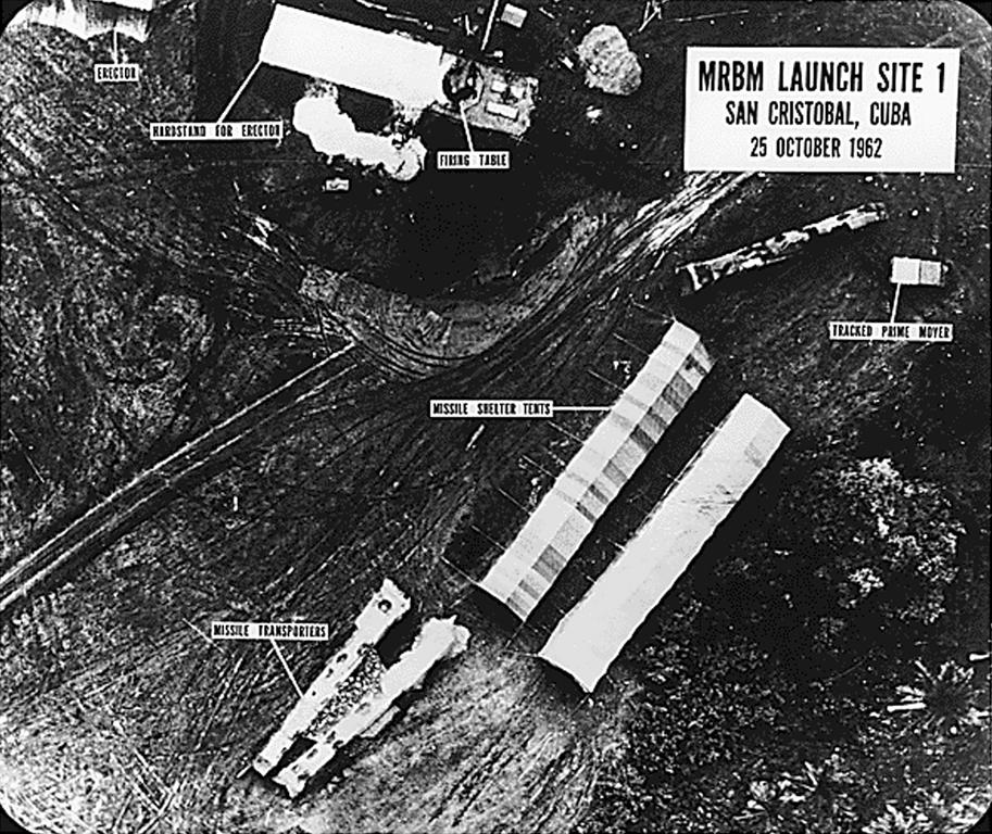 Missile-launching site in Cuba (1962)