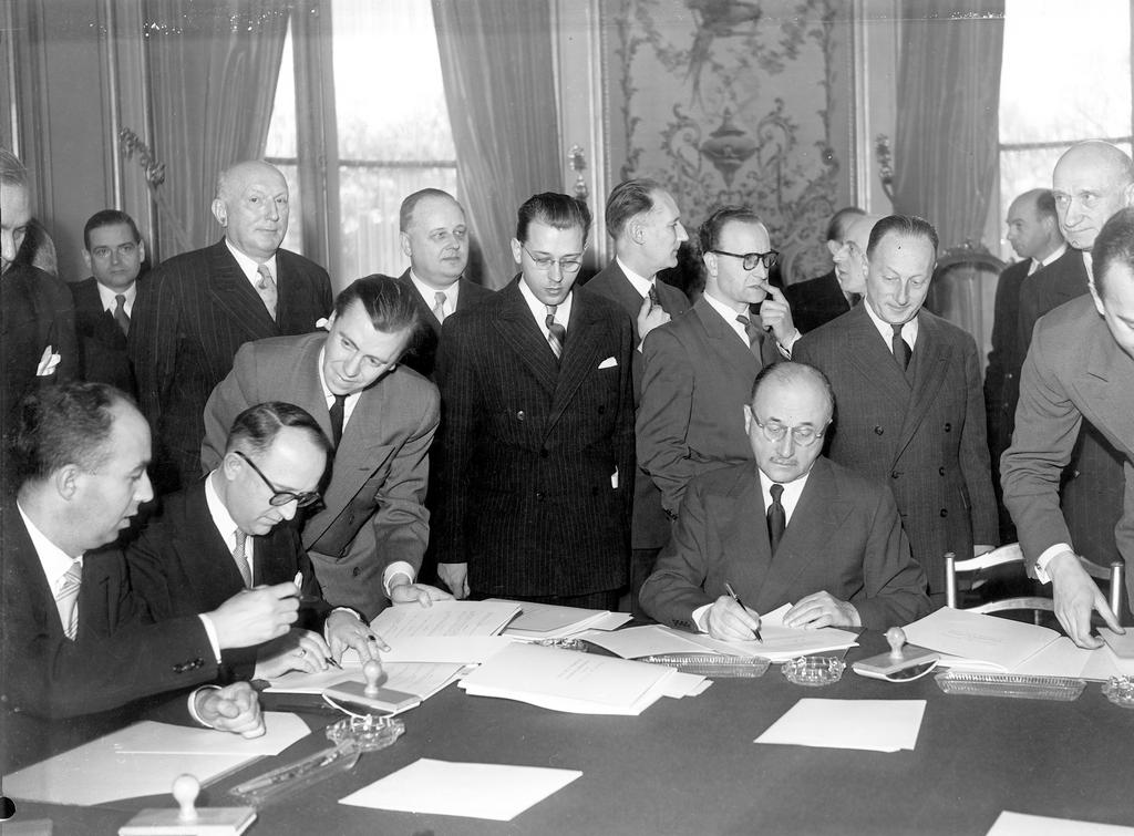 Initialling the Schuman Plan (19 March 1951)