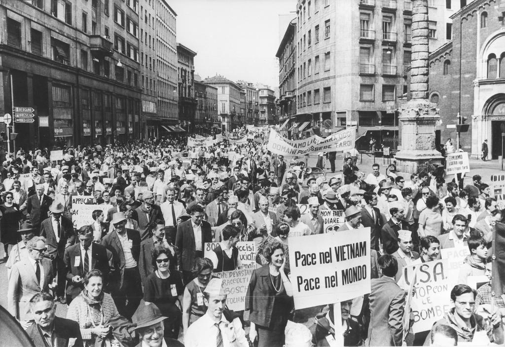 Demonstration against the Vietnam War (Milan, 1967)