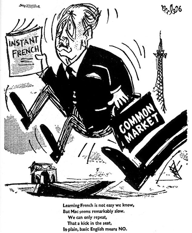 Cartoon by Eccles, published in the <i>Daily Worker</i> (28 January 1963)