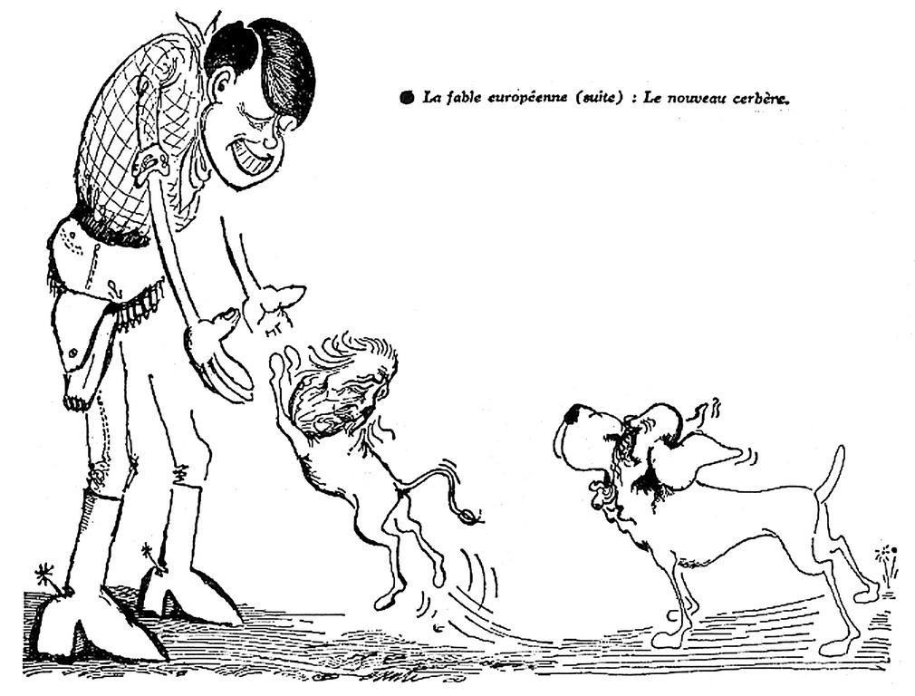 Cartoon by Esenti, published in the <i>Démocratie 63</i> (31 January 1963)