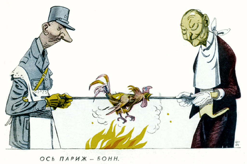 Cartoon by Ganf on the Franco-German Treaty of Friendship (30 October 1962)