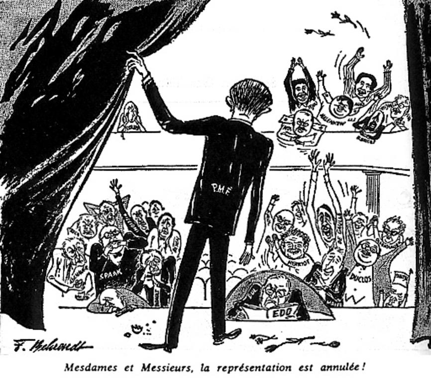 Cartoon by Behrendt on the EDC (1 September 1954)