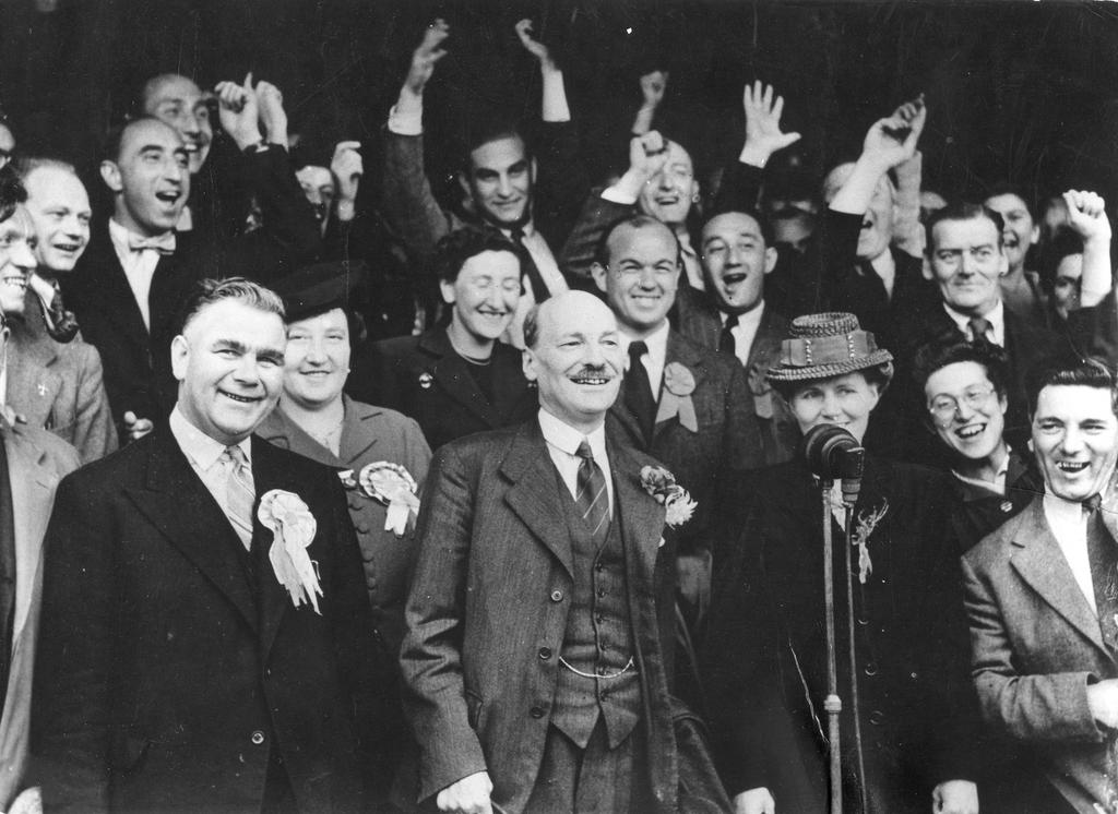 Clement Attlee's election victory (London, 28 July 1945)