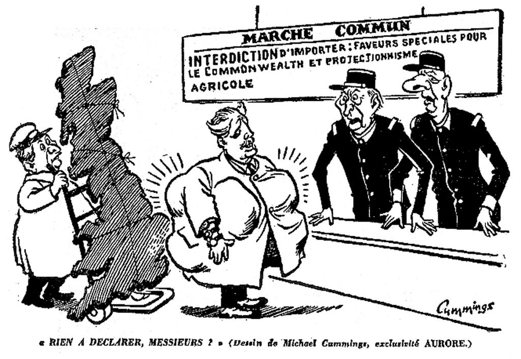 Cartoon by Cummings on the United Kingdom's application for membership to the EEC (19 June 1961)