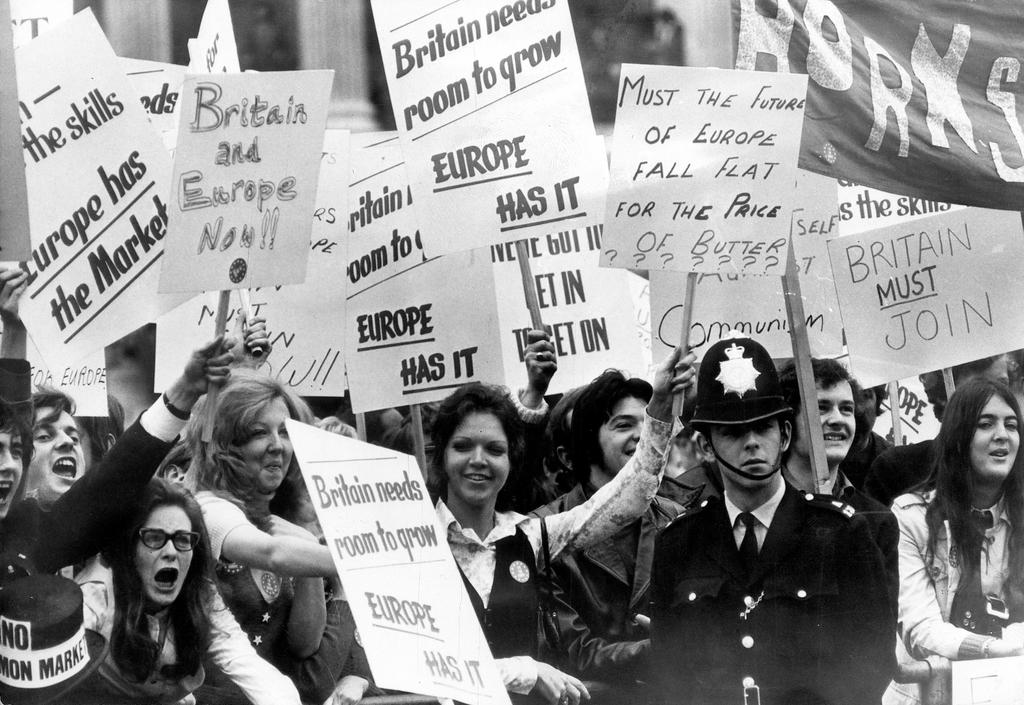 Demonstration in support of the European Community (London, 8 June 1971)
