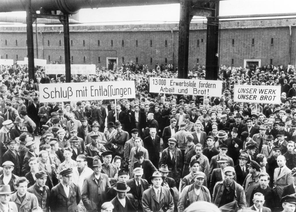 Demonstration against the dismantling of German industry (19 August 1949)
