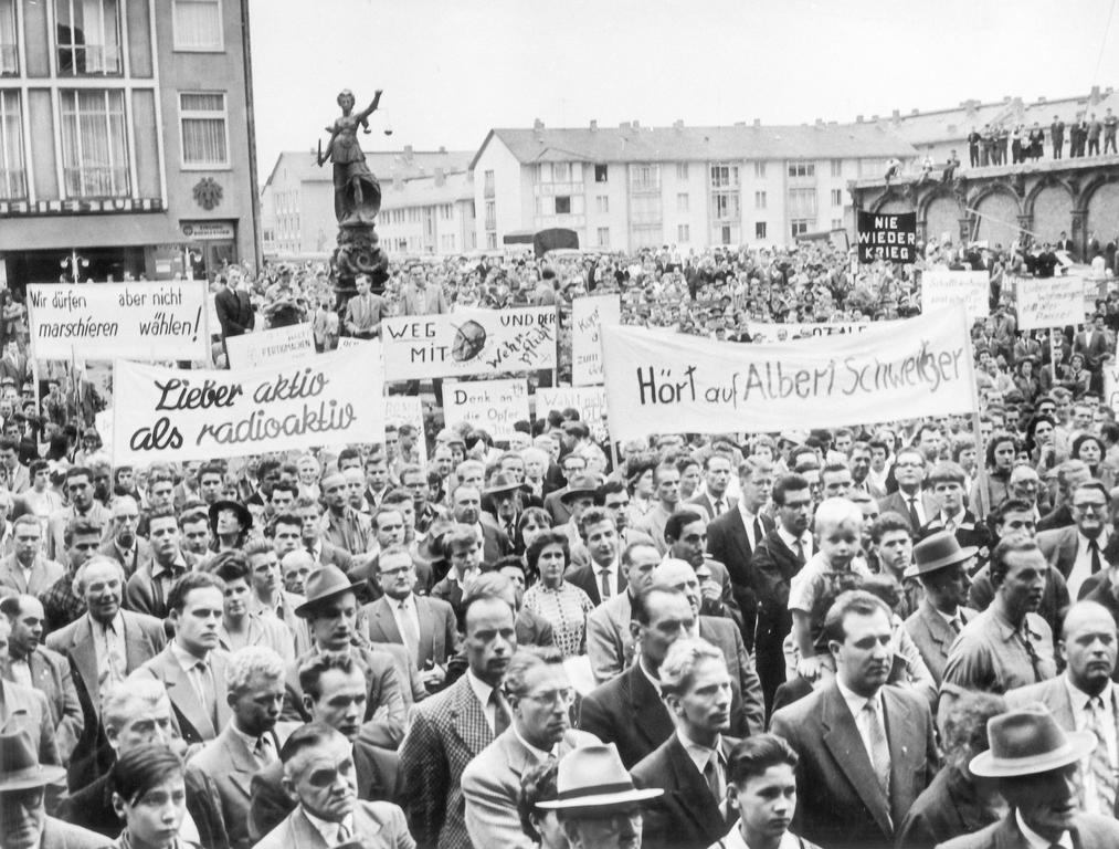 Demonstration against German rearmament (1957)