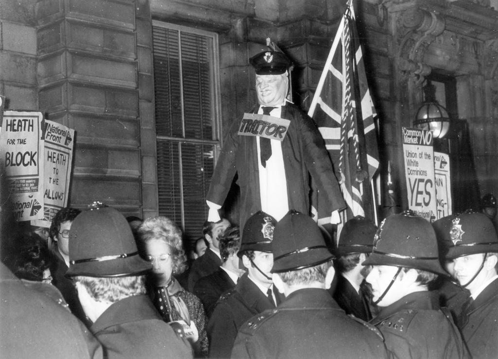Protests against the common market (London, 6 January 1973)