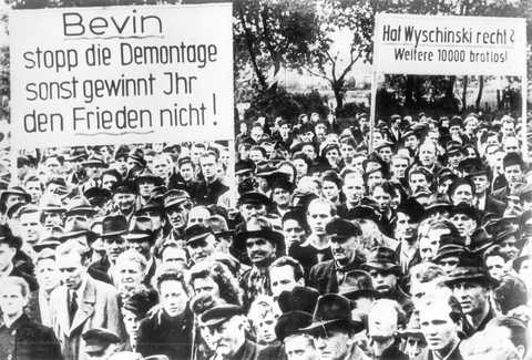 Demonstration against dismantling in Germany (7 June 1949)
