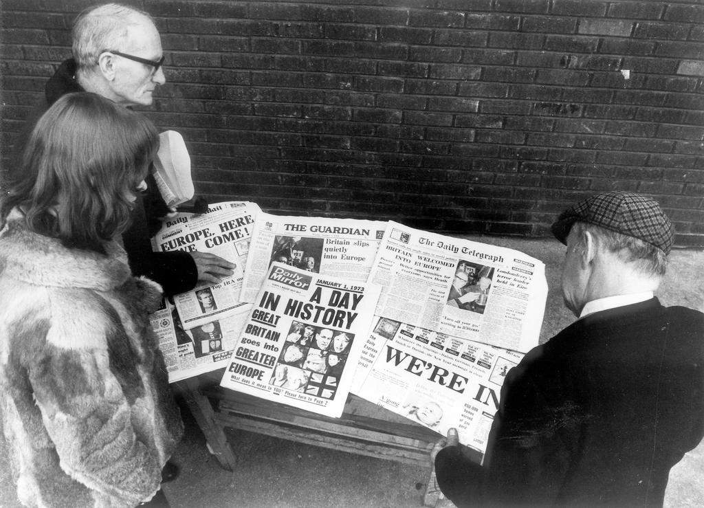 The accession of the United Kingdom to the EC makes the front pages of British newspapers (London, 1 January 1973)