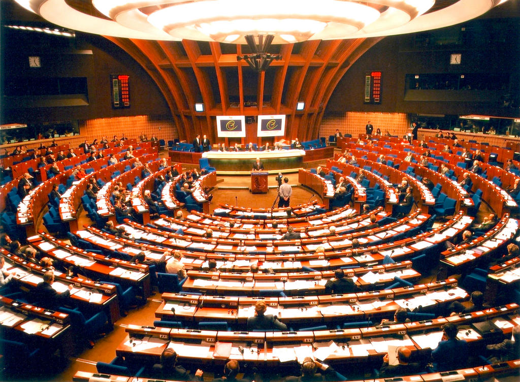 Debating chamber of the council of europe palais de l for Architects council of europe