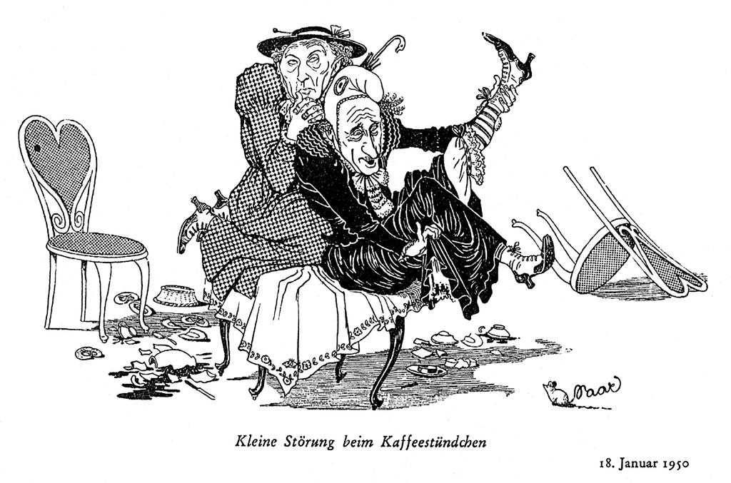 Cartoon by Meinhard on the difficult Saar question (18 January 1950)