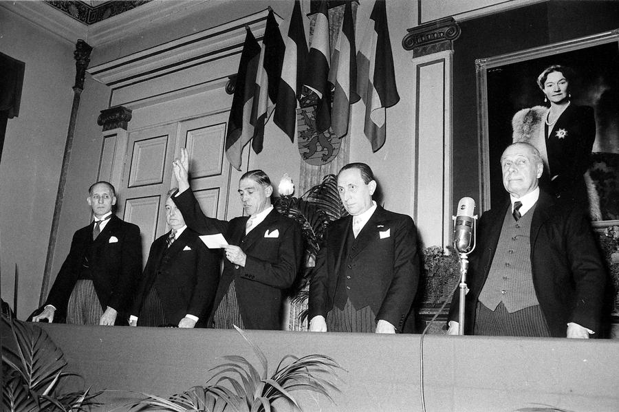 First session of the ECSC Court of Justice (Luxembourg, 10 December 1952)
