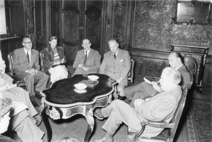 Press conference on the Schuman Plan held by Joseph Bech (27 July 1952)