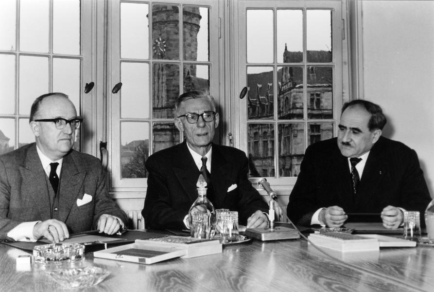 The Presidents of the ECSC High Authority and the Commissions of the EEC and Euratom (Luxembourg, 13 January 1958)