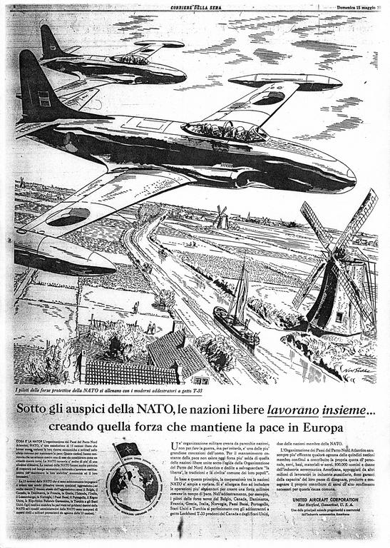 Advertisement in support of NATO (15 May 1955)