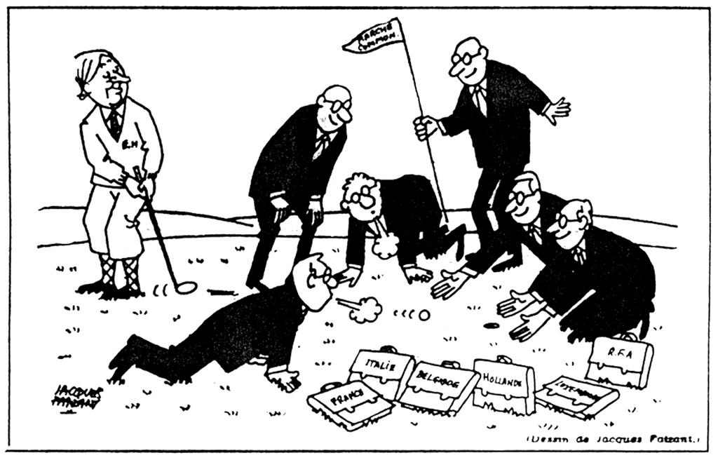 Cartoon by Faizant on British accession to the EC (29 October 1971)