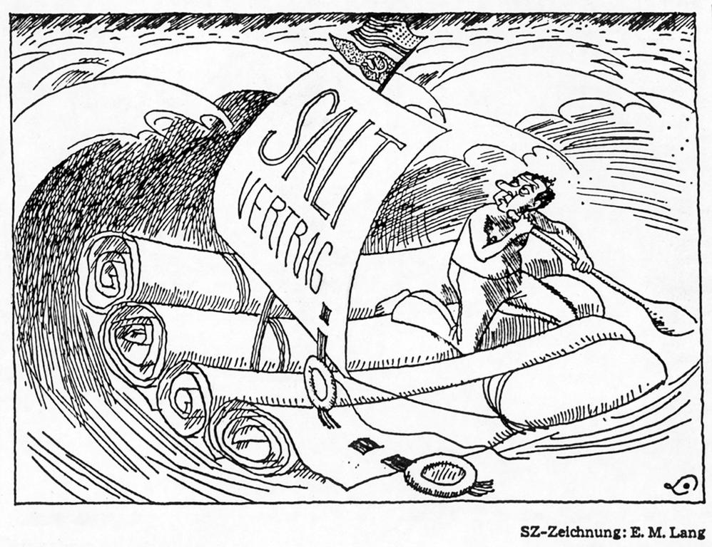 Cartoon by Lang on the SALT agreements (31 May 1972)