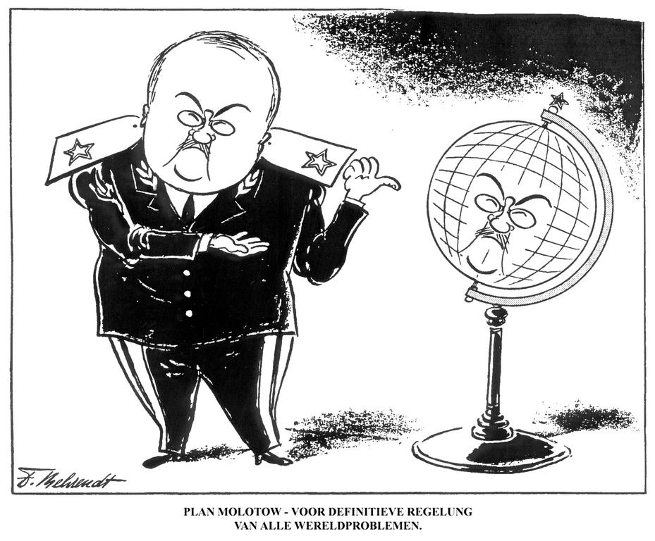 Cartoon by Behrendt on the Molotov Plan