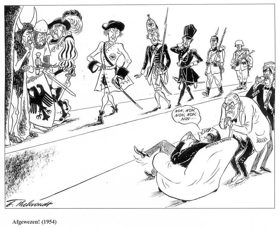 Cartoon by Behrendt on the EDC (1954)